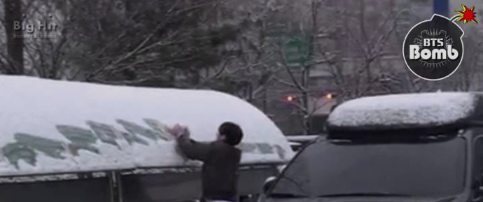 [BANGTAN BOMB] Guerra com bola de neve (Câmera do Jimin)