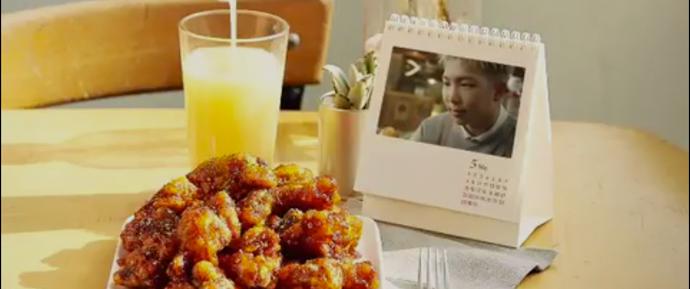 🎥 Rap Monster para a campanha 'Olive Mala Hot Chicken' da BBQ Chicken