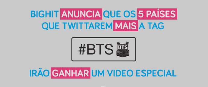 BTS ganha seu próprio emoji no Twitter e presenteia 5 países mais ativos na hashtag com mensagem em vídeo