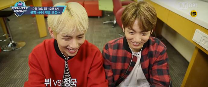 🎥 BTS anunciando a preview do M!Countdown