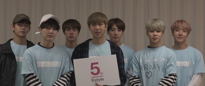🎥 Mensagem de comemoração do BTS para a Kstyle