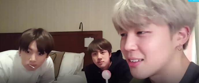 [VÍDEO] 15.12.16 – V App – BTS Live: Eat Jin + chimchim 😂 + kook