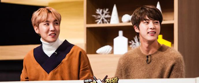 📷 Jin & J-Hope @ Baek Jongwon Top 3 Chef King