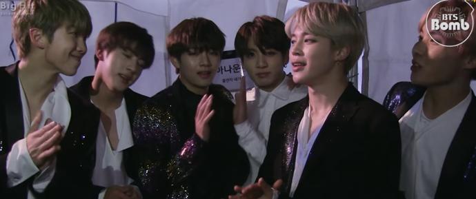 [BANGTAN BOMB] BTS saudando o Ano Novo no @ MBC Gayo Daejaejun 2016