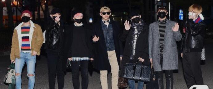 Chegada do BTS ao Music Bank