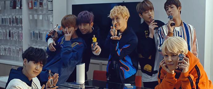 🎥 BTS para a SK Telecom