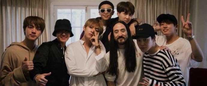 Steve Aoki indica possível colaboração com o BTS!