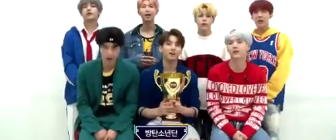 🎥 BTS agradece o primeiro lugar no Show Champion