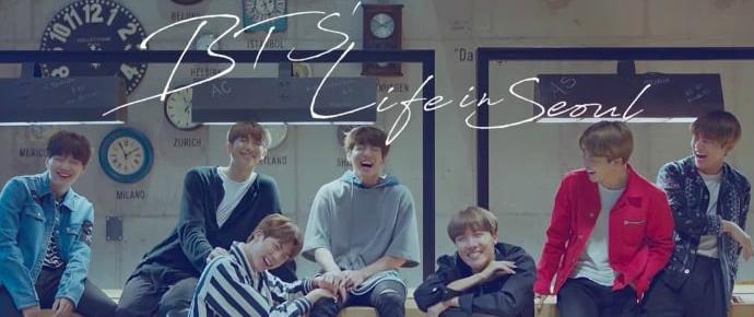 BTS se diverte em Seoul em campanha turística