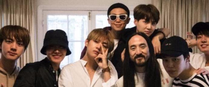"""[NEWS] Steve Aoki sobre trabalhar com """"gênios"""" BTS: """"Eles são criativos em todos os aspectos"""""""