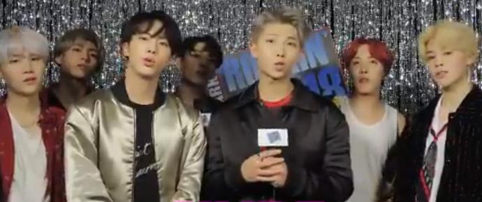 🎥 BTS deseja um Feliz Ano Novo no Rock In Eve