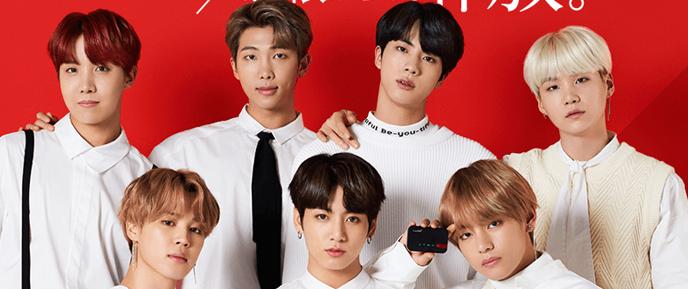 BTS são os novos garotos propaganda da Yahoo! Japan
