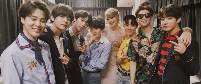 BBMAs 2018: O BTS conhece John Legend, Taylor Swift, Pharrell e mais!