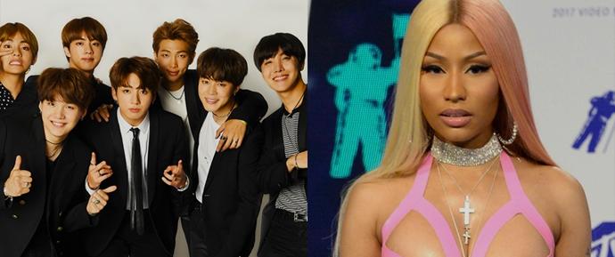 Nicki Minaj cita John Mayer em colaboração com BTS