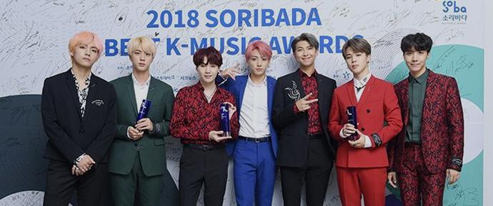  BTS @ Soribada Best K-Music Awards 2018