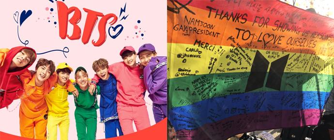A história emocionante por trás da bandeira LGBTQ+ no show do BTS