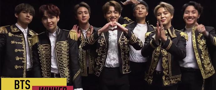 Mais um pra conta! O BTS é o primeiro artista coreano premiado no AMAs