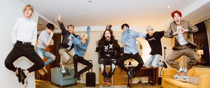 """BTS e Steve Aoki entram juntos na Billboard Hot 100  com """"Waste It On Me"""""""
