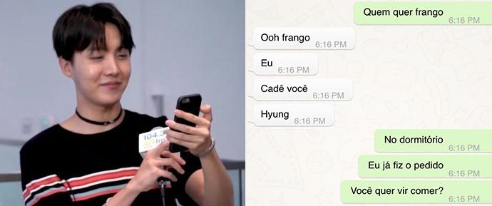 E se o BTS tivesse um grupo no WhatsApp?
