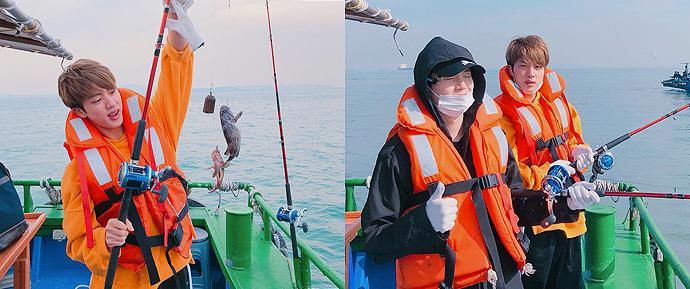 Jin e SUGA cumprem a promessa de saírem para pescar e foi MUITO fofo!