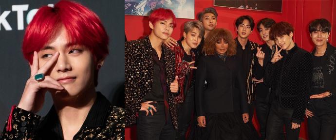 """Fãs de Janet Jackson querem saber: Quem é """"o ruivo"""" do BTS? 😲"""