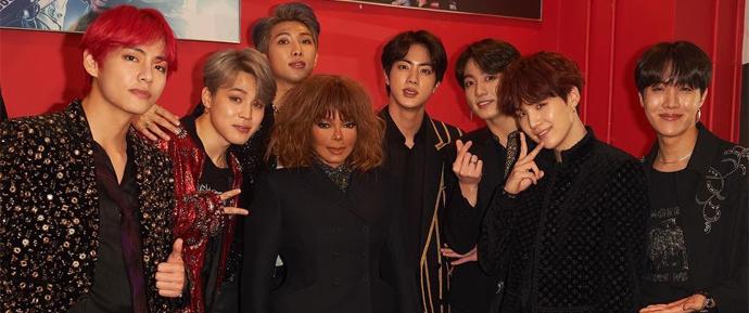 O encontro do BTS com Janet Jackson foi melhor do que a gente imaginava!