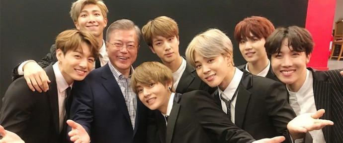 O BTS é exemplo no discurso de ano novo do Presidente da Coreia do Sul!