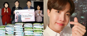 Fãs doam arroz para celebrar o aniversário do J-Hope!