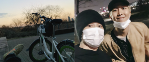 Esse vídeo do Jimin com o RM passeando de bicicleta vai fazer você se apaixonar por essa amizade