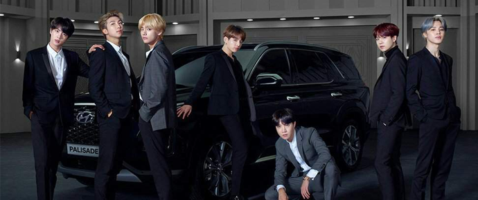 O Palisade da Hyundai está em alta graças ao BTS (e não choca ninguém)