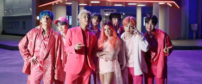 BTS e Halsey apresentarão 'Boy With Luv' no Billboard Music Awards!