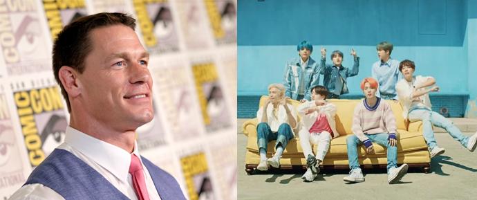 O maior ARMY voltou! John Cena revela suas músicas favoritas de 'Map of the Soul: Persona'