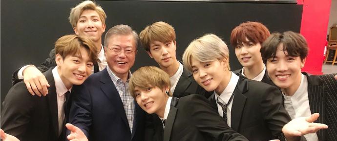 O efeito do BTS na diplomacia: O presidente Moon mencionou o grupo para os líderes da Suécia