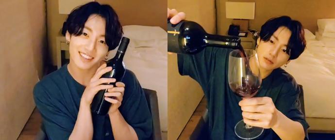 [V APP] 16.06.19 – JungKook (Uma bebida relaxante depois de um dia feliz 🍷)