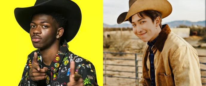 "Homies in the back! RM se junta à Lil Nas X em novo remix do sucesso ""Old Town Road"" 🤠"