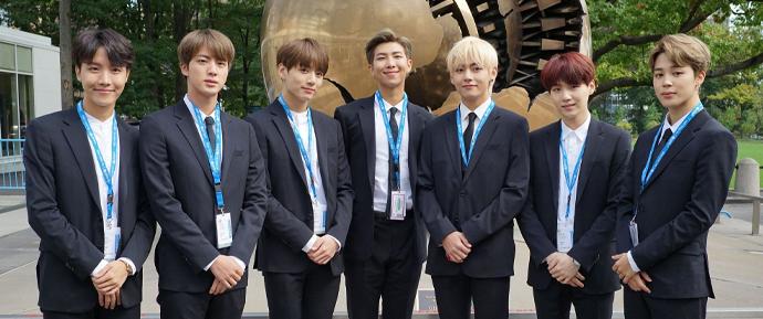 O BTS e os ARMYs são reconhecidos como Líderes do Desenvolvimento Sustentável da ONU!