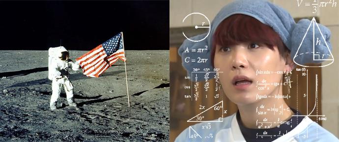 A NASA vai tocar BTS na lua, mas o SUGA ficou um pouco confuso com a notícia… 🤔