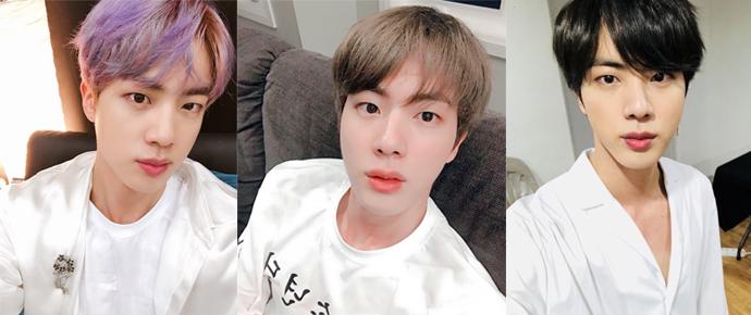 A evolução dos cabelos do Jin é uma icônica jornada!