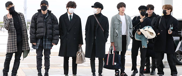 📷 BTS @ Aeroporto de Incheon