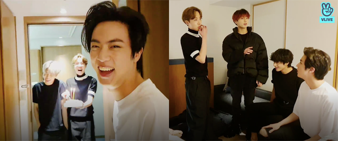 [V APP] 03.12.19 – Jin (VLIVE de aniversário do Jin)