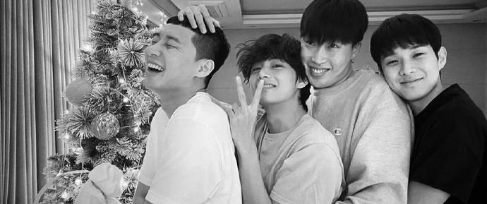 Melhores amigos! Park Seojoon divulga foto do seu Natal com V e Choi Wooshik 🎄