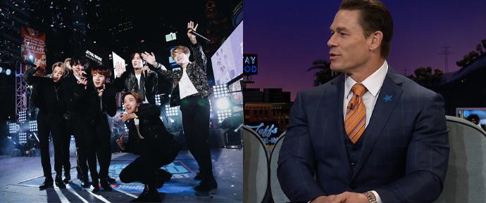 """John Cena revela o motivo de ter se tornado fã do BTS: """"Eles usam sua voz para o bem"""""""