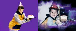 J-Hope recriando sua foto de aniversário da infância é a coisa mais fofa do mundo! 💜