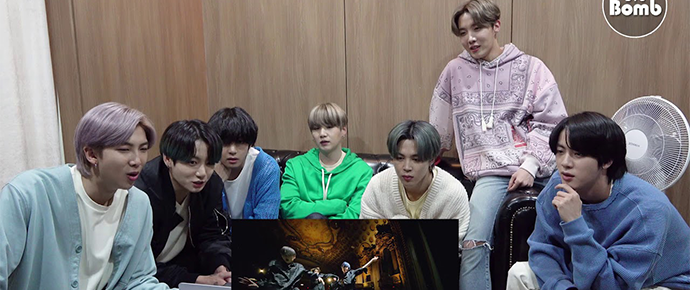 [BANGTAN BOMB] BTS reagindo ao MV de 'Black Swan'