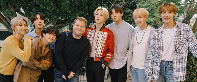 O BTS vai se apresentar no 'Homefest: The Late Late Show Special' diretamente de casa!