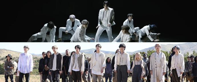 O BTS contou suas cenas favoritas dos MVs de 'ON' e 'Black Swan'!