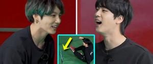 Jin estava PRONTÍSSIMO para brigar com o JungKook durante o Run BTS! 😡