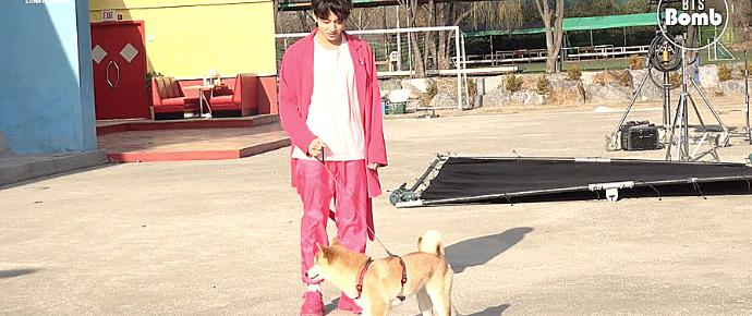 [BANGTAN BOMB] Tem um cachorro no set com o BTS!