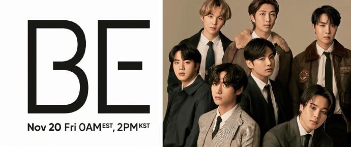 O novo álbum do BTS se chama 'BE' e será lançado no dia 20 de novembro! 💜