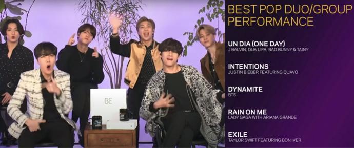"""BTS comemora a sua primeira indicação ao Grammy: """"Estamos muito honrados"""" 💜"""